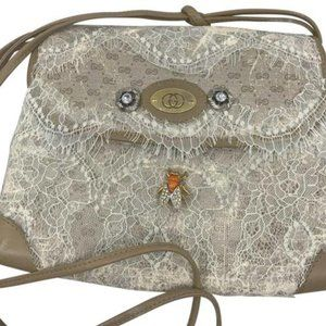 GUCCI Vintage Customized w/ Lace And Bee Brooch